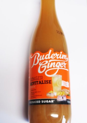 Buderim Ginger Revitalise - Ingwer Sirup mit STEVIA (Inhalt 750ml)