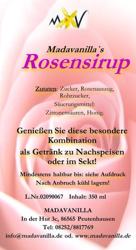 Rosensirup - 350ml