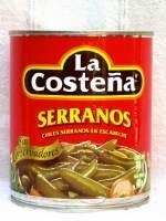 La Costena - Chilies Serranos - in Dose - 220g