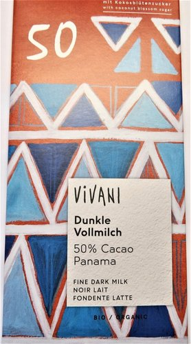 80g Vivani Dunkle VOLLMILCH 50% Cacao